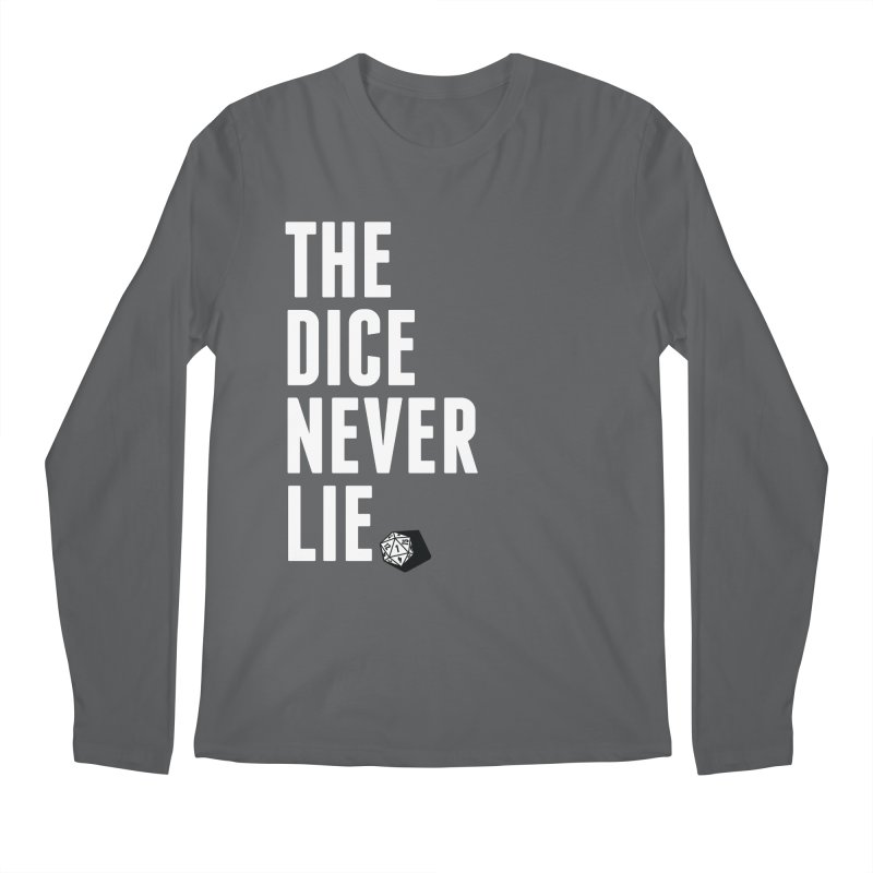 The Dice Never Lie Men's Longsleeve T-Shirt by march1studios's Artist Shop