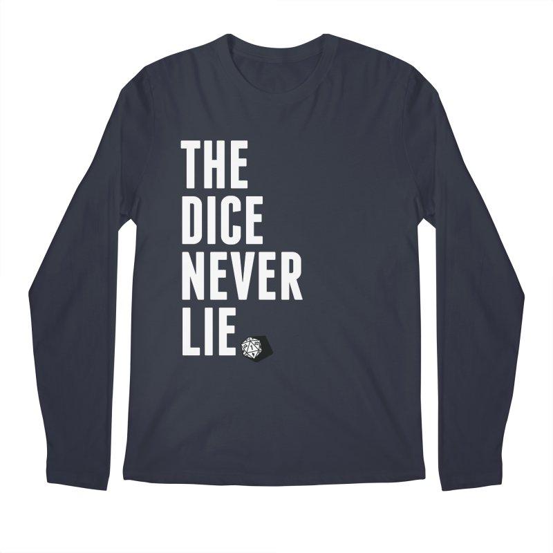 The Dice Never Lie Men's Regular Longsleeve T-Shirt by march1studios's Artist Shop