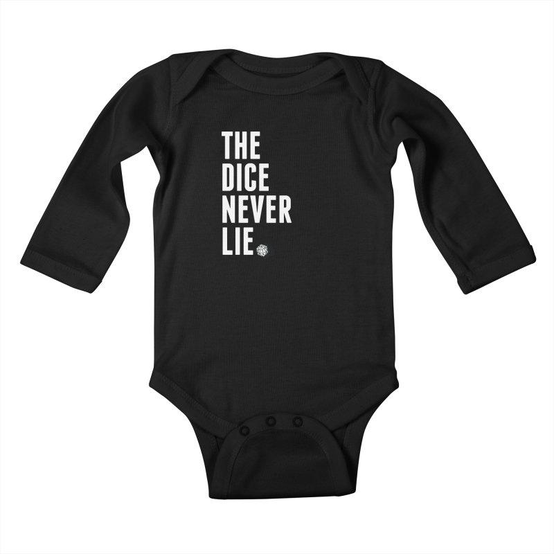 The Dice Never Lie Kids Baby Longsleeve Bodysuit by march1studios's Artist Shop