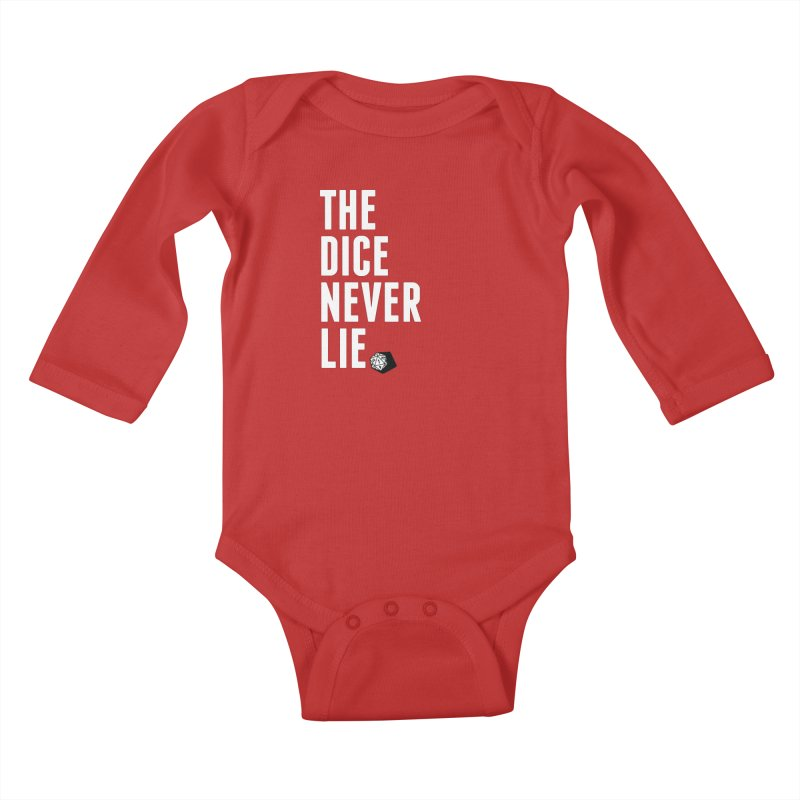 The Dice Never Lie Kids Baby Longsleeve Bodysuit by march1studios's Artist Shop