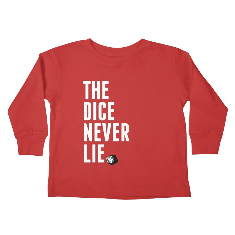 The Dice Never Lie Kids Toddler Longsleeve T-Shirt by march1studios's Artist Shop