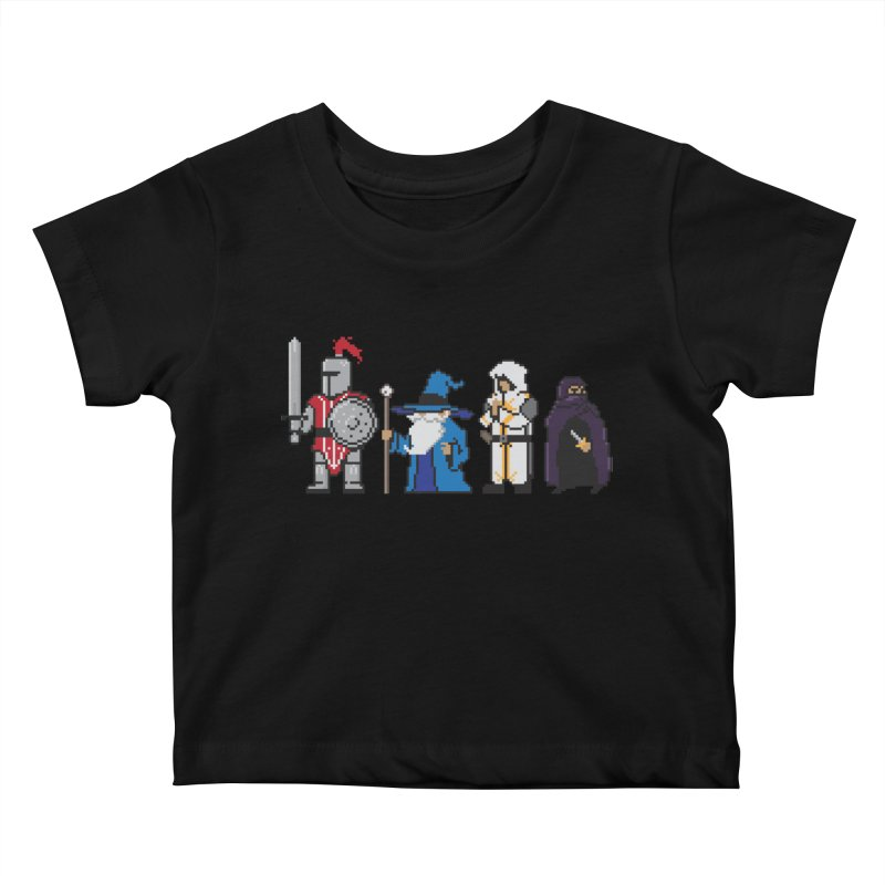 This Is How We Party   80's RPG Kids Baby T-Shirt by march1studios's Artist Shop