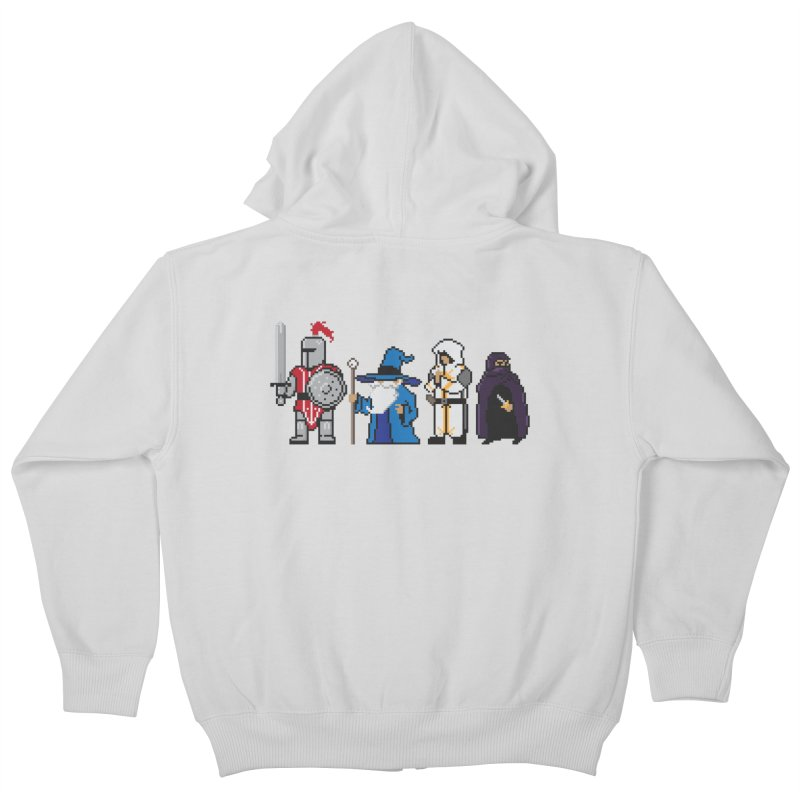 This Is How We Party | 80's RPG Kids Zip-Up Hoody by march1studios's Artist Shop