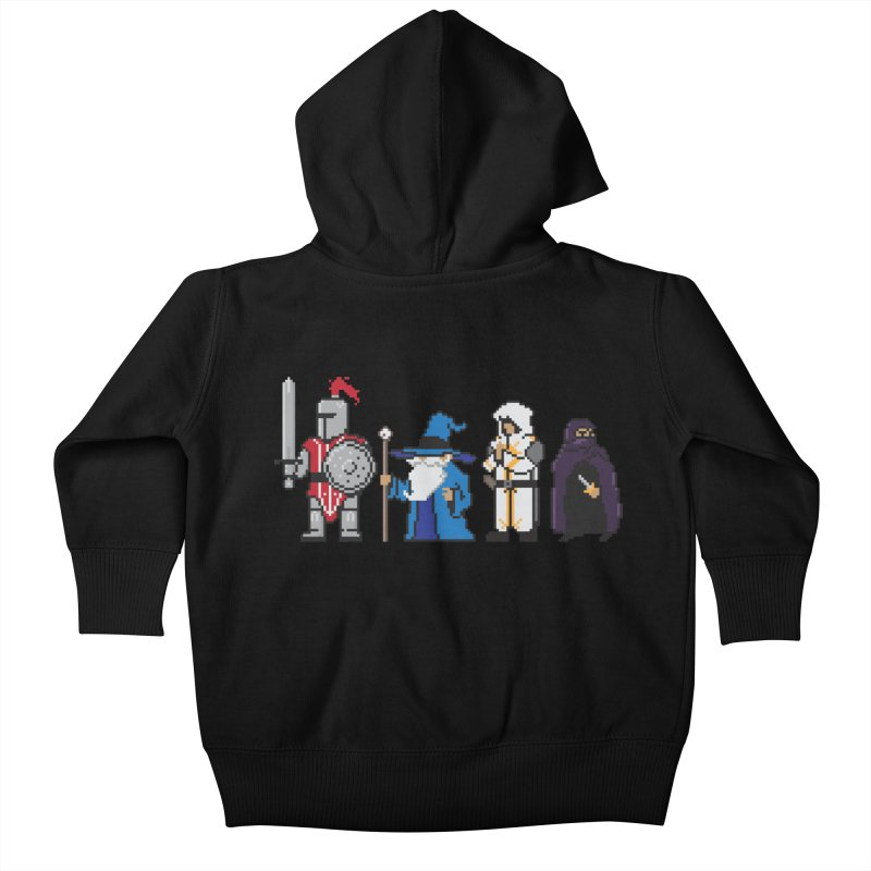 This Is How We Party | 80's RPG Kids Baby Zip-Up Hoody by March1Studios on Threadless