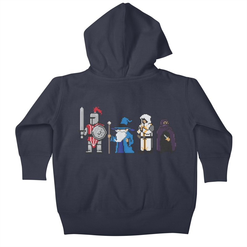 This Is How We Party | 80's RPG Kids Baby Zip-Up Hoody by march1studios's Artist Shop