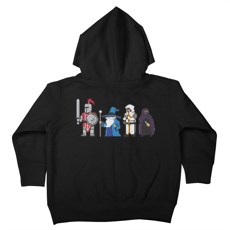 This Is How We Party | 80's RPG Kids Toddler Zip-Up Hoody by march1studios's Artist Shop