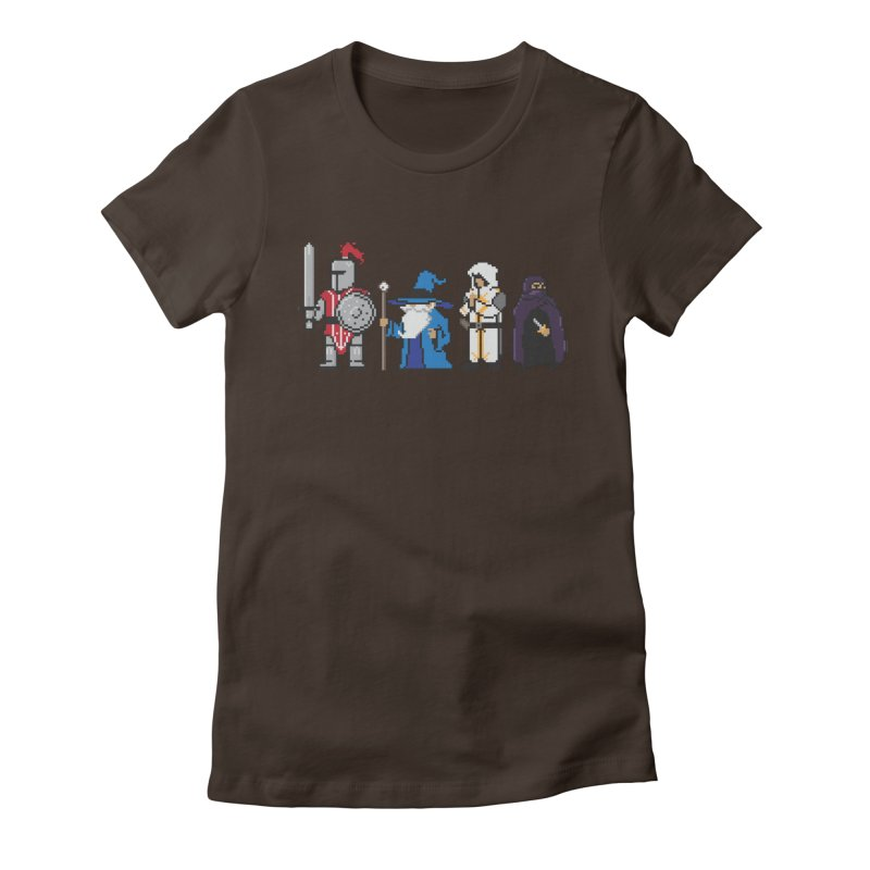 This Is How We Party   80's RPG Women's Fitted T-Shirt by march1studios's Artist Shop