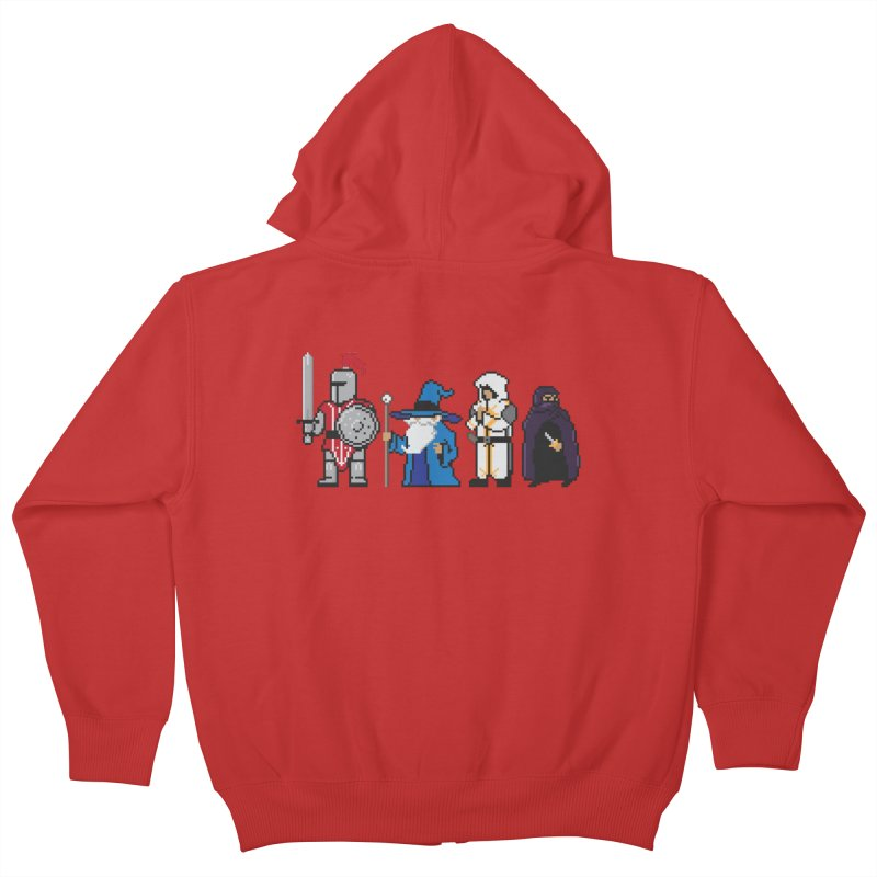 This Is How We Party   80's RPG Kids Zip-Up Hoody by march1studios's Artist Shop