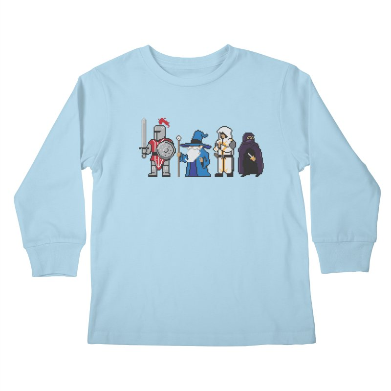 This Is How We Party | 80's RPG Kids Longsleeve T-Shirt by march1studios's Artist Shop