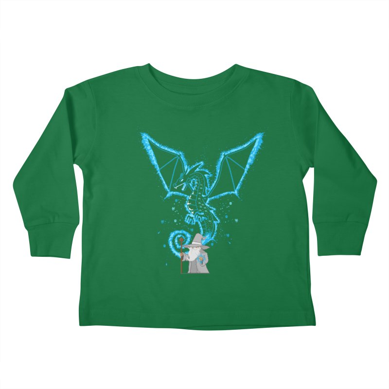 Pixel Wizard Kids Toddler Longsleeve T-Shirt by march1studios's Artist Shop