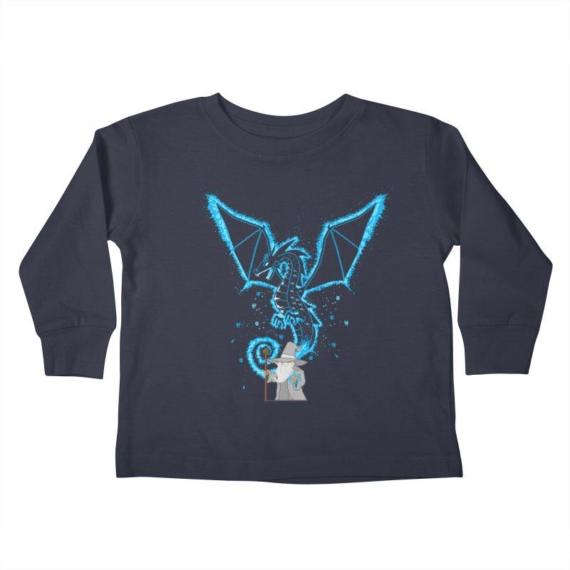 Pixel Wizard Kids Toddler Longsleeve T-Shirt by march1studios's Artist Shop