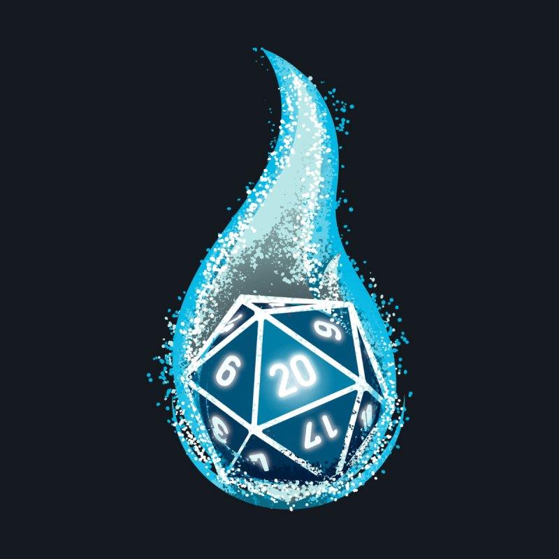 This Is How I Roll: Blue Flames by March1Studios on Threadless