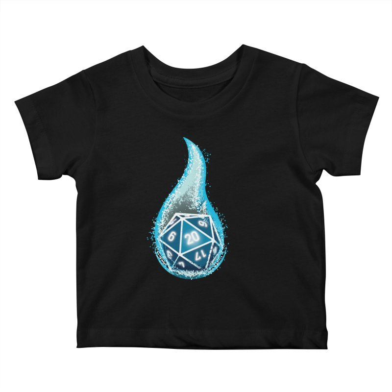 This Is How I Roll: Blue Flames Kids Baby T-Shirt by march1studios's Artist Shop