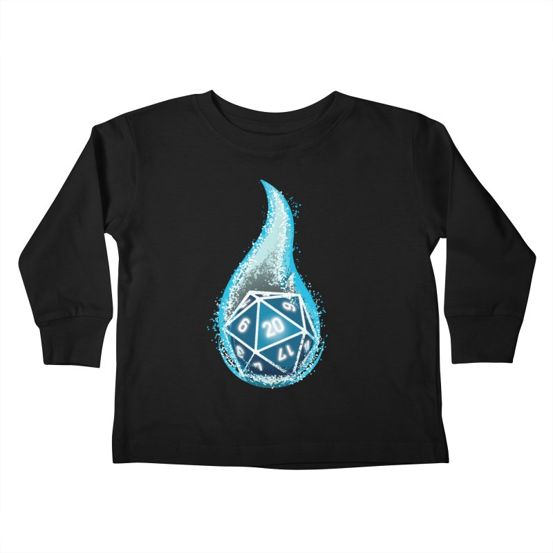 This Is How I Roll: Blue Flames Kids Toddler Longsleeve T-Shirt by march1studios's Artist Shop