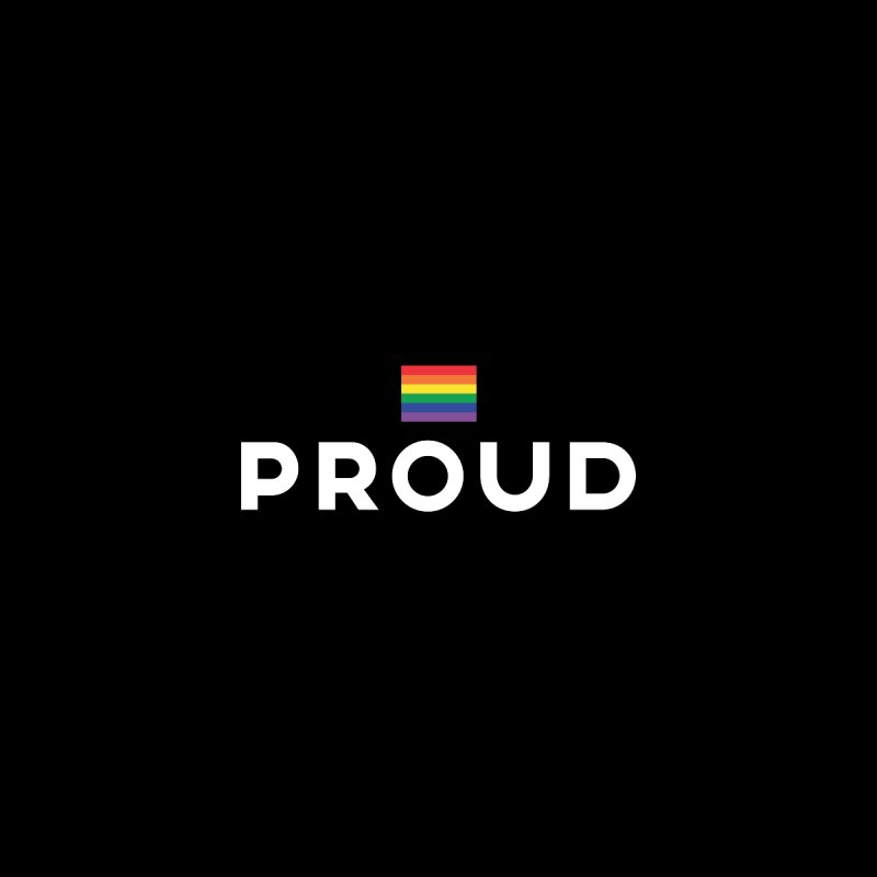 Simply Proud | Dark Background by march1studios's Artist Shop