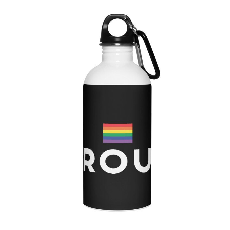 Simply Proud | Dark Background Accessories Water Bottle by march1studios's Artist Shop