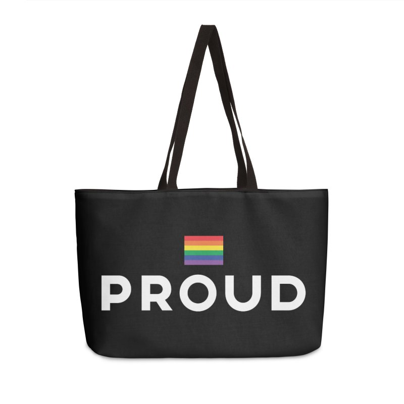 Simply Proud | Dark Background Accessories Weekender Bag Bag by March1Studios on Threadless