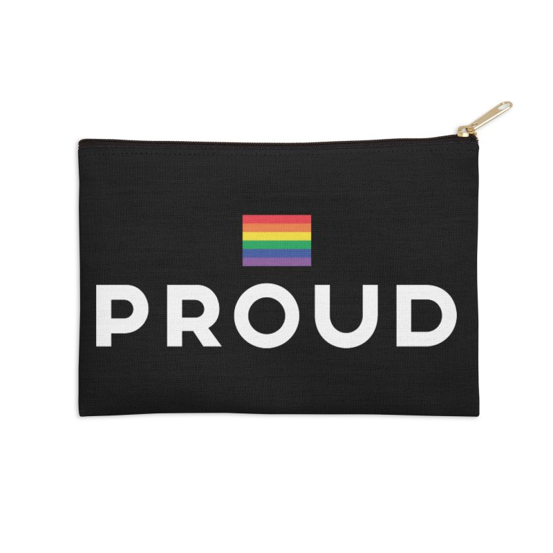 Simply Proud | Dark Background Accessories Zip Pouch by march1studios's Artist Shop