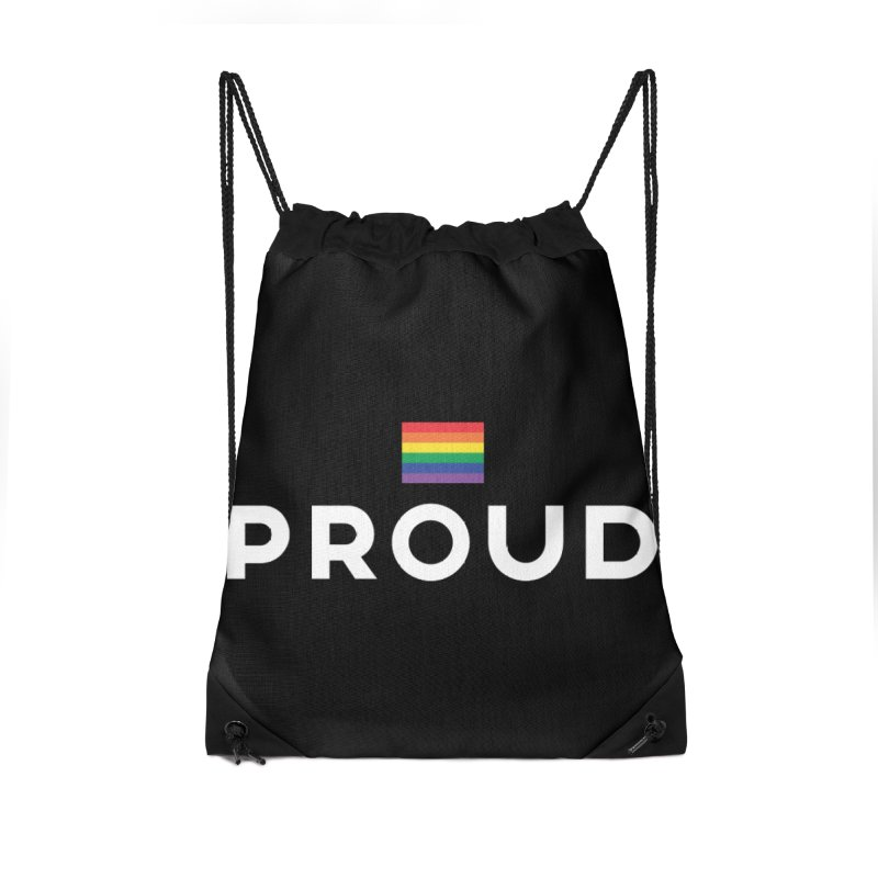 Simply Proud | Dark Background Accessories Drawstring Bag Bag by March1Studios on Threadless