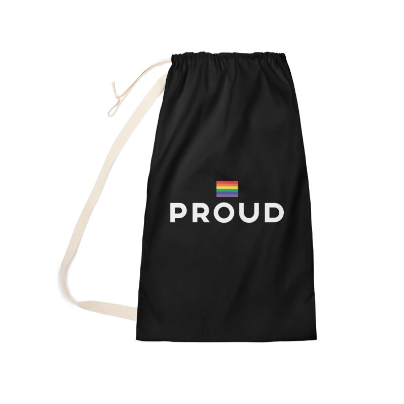 Simply Proud | Dark Background Accessories Laundry Bag Bag by March1Studios on Threadless