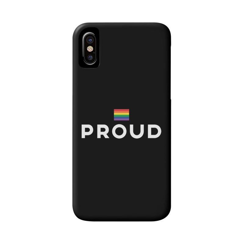Simply Proud | Dark Background Accessories Phone Case by march1studios's Artist Shop