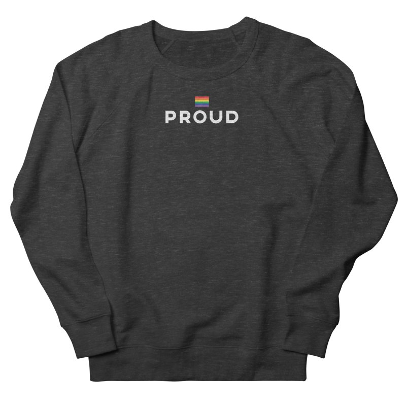 Simply Proud | Dark Background Men's French Terry Sweatshirt by march1studios's Artist Shop