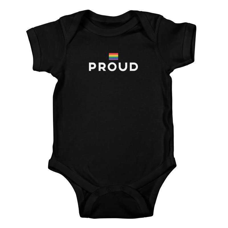 Simply Proud | Dark Background Kids Baby Bodysuit by march1studios's Artist Shop