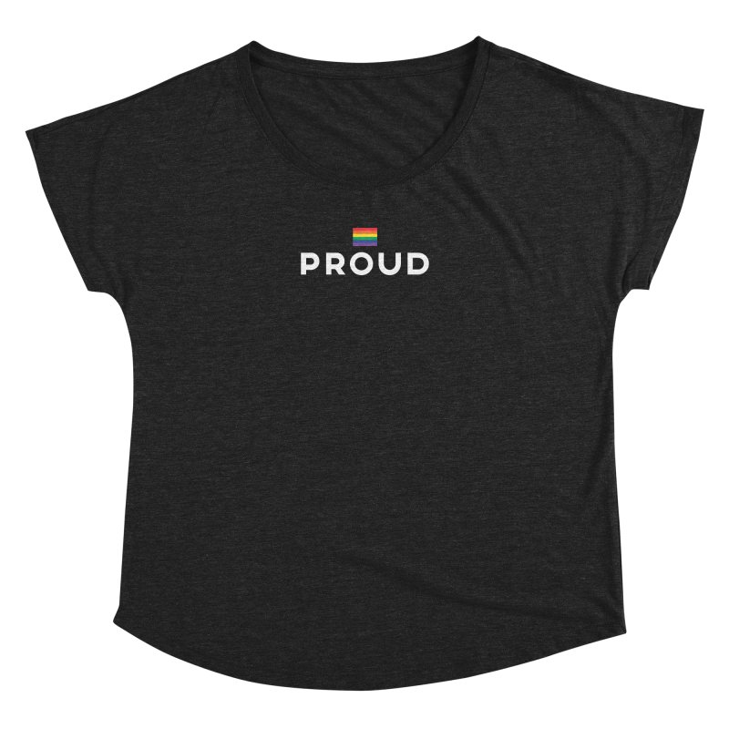 Simply Proud | Dark Background Women's Dolman Scoop Neck by march1studios's Artist Shop