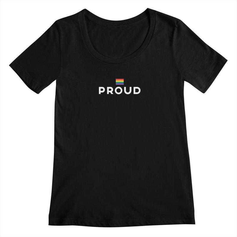Simply Proud | Dark Background Women's Scoopneck by march1studios's Artist Shop