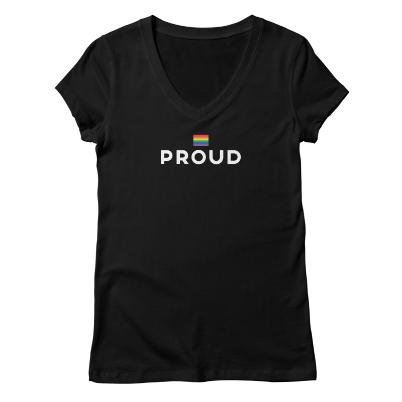 Simply Proud | Dark Background Women's V-Neck by march1studios's Artist Shop
