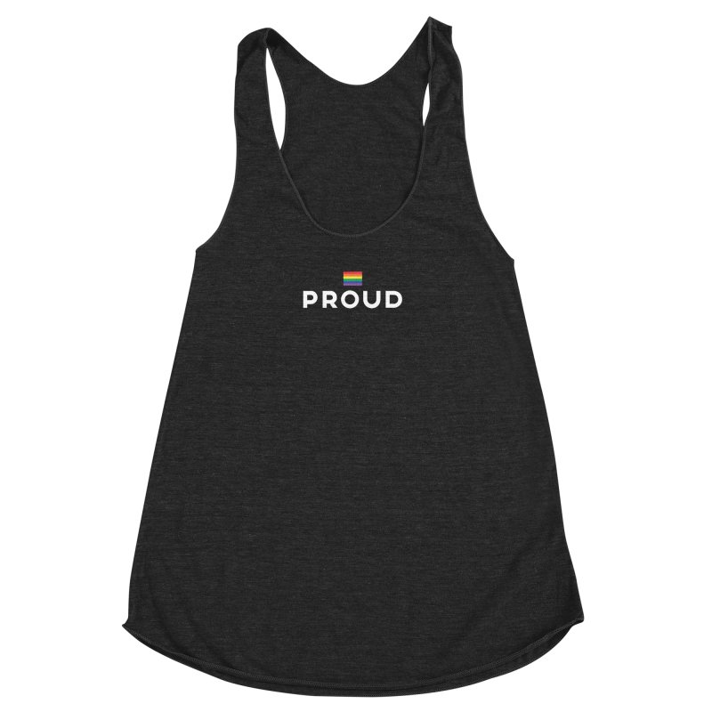 Simply Proud | Dark Background Women's Racerback Triblend Tank by march1studios's Artist Shop
