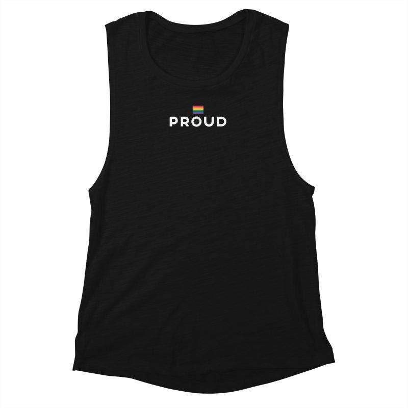 Simply Proud | Dark Background Women's Muscle Tank by march1studios's Artist Shop