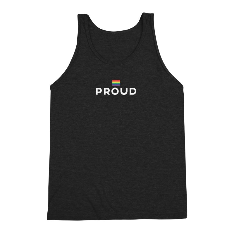 Simply Proud | Dark Background Men's Triblend Tank by March1Studios on Threadless