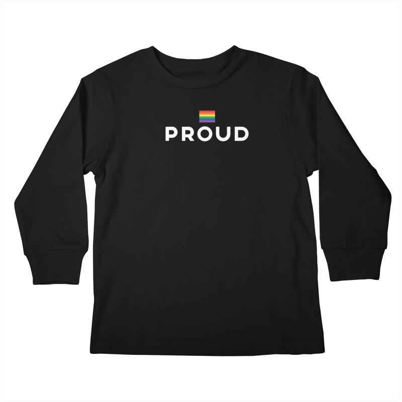 Simply Proud | Dark Background Kids Longsleeve T-Shirt by march1studios's Artist Shop