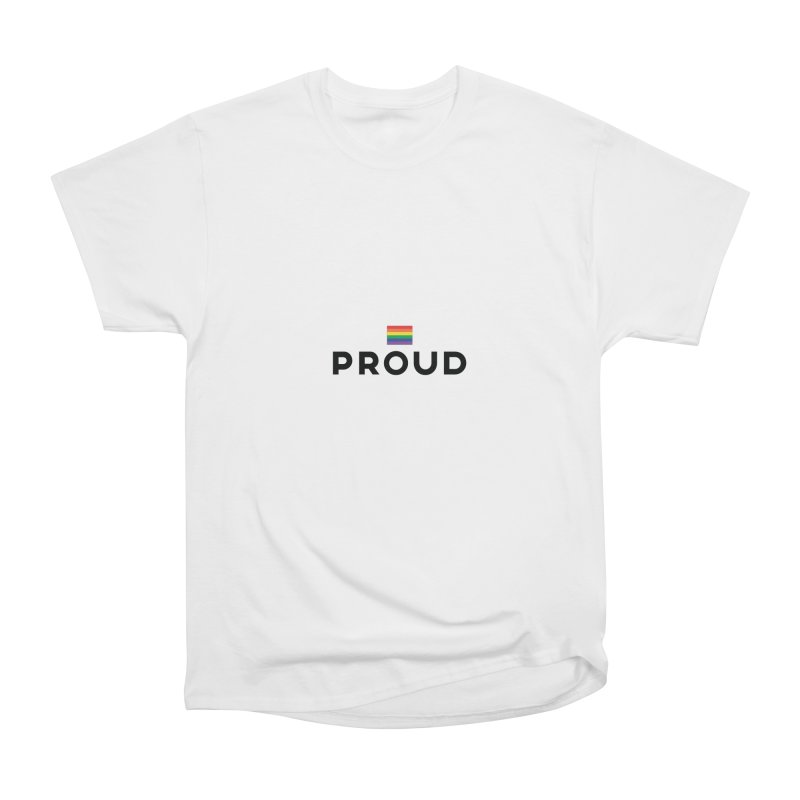 Simply Proud | Light Backgrounds Women's Heavyweight Unisex T-Shirt by march1studios's Artist Shop