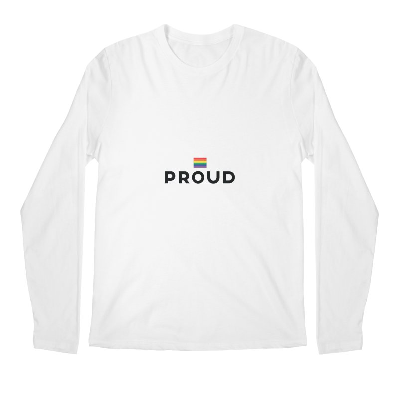Simply Proud | Light Backgrounds Men's Regular Longsleeve T-Shirt by March1Studios on Threadless