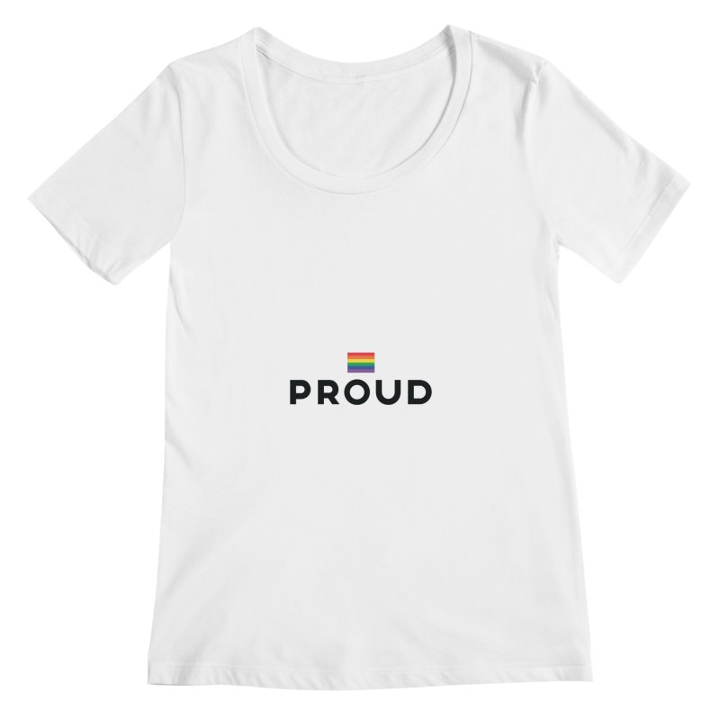 Simply Proud | Light Backgrounds Women's Regular Scoop Neck by march1studios's Artist Shop