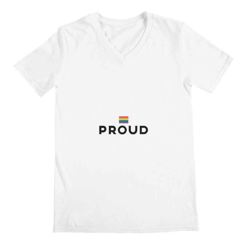 Simply Proud | Light Backgrounds Men's Regular V-Neck by march1studios's Artist Shop