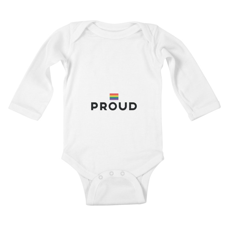 Simply Proud | Light Backgrounds Kids Baby Longsleeve Bodysuit by march1studios's Artist Shop