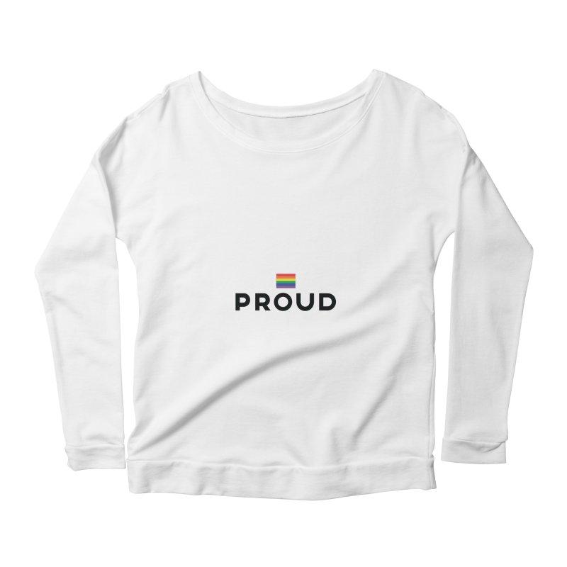 Simply Proud | Light Backgrounds Women's Scoop Neck Longsleeve T-Shirt by march1studios's Artist Shop