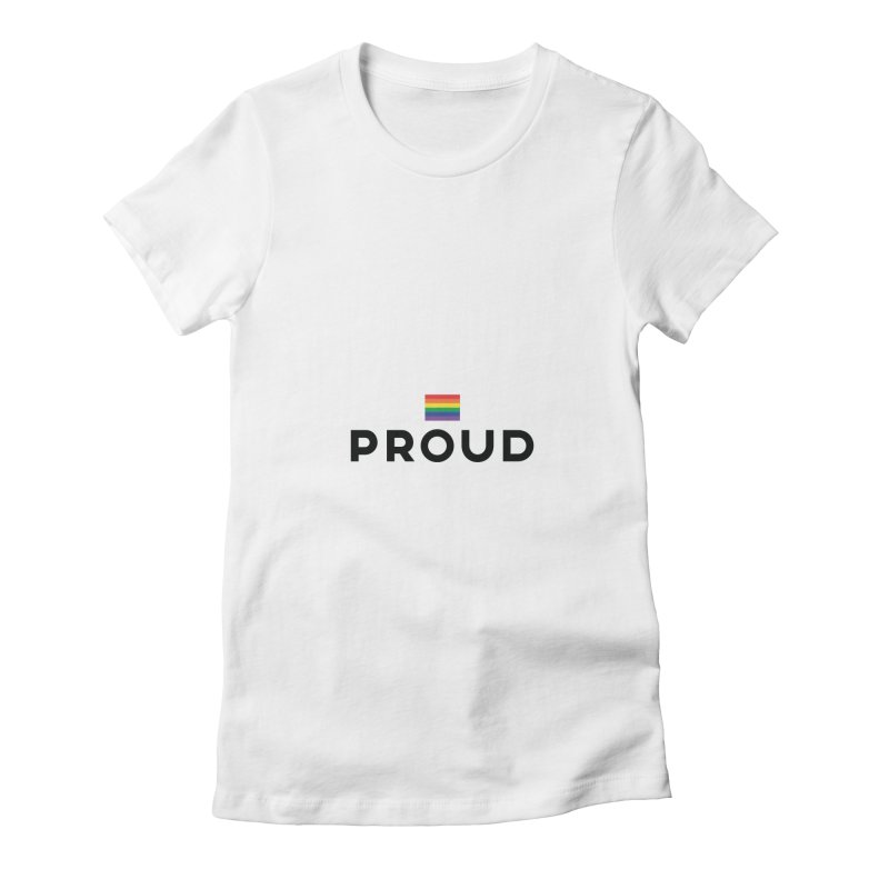 Simply Proud | Light Backgrounds Women's Fitted T-Shirt by march1studios's Artist Shop