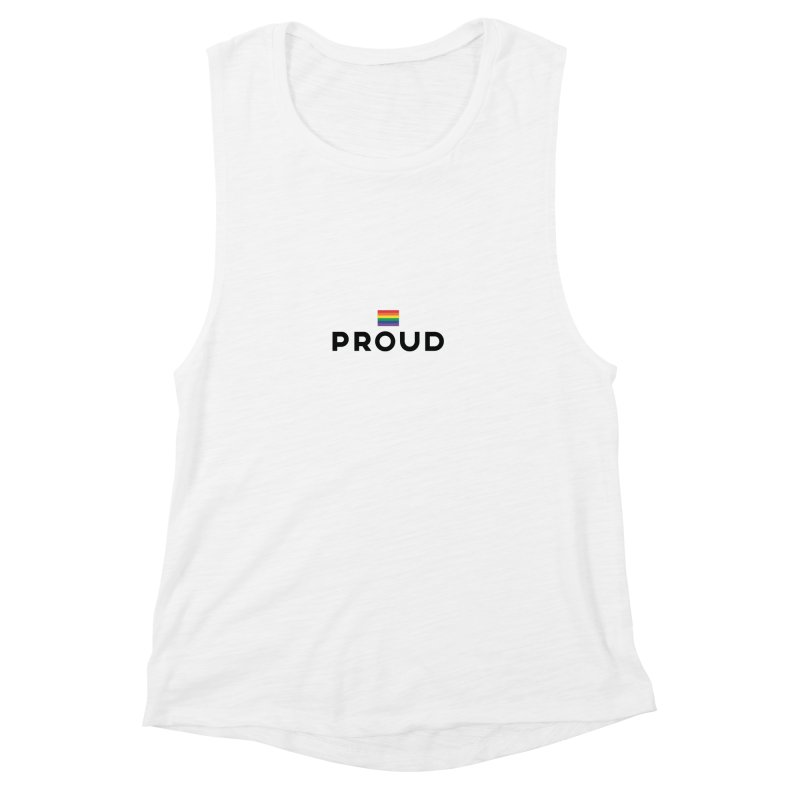 Simply Proud | Light Backgrounds Women's Muscle Tank by march1studios's Artist Shop