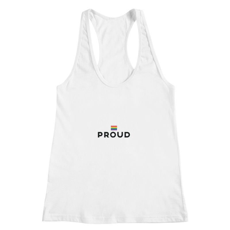 Simply Proud | Light Backgrounds Women's Racerback Tank by march1studios's Artist Shop