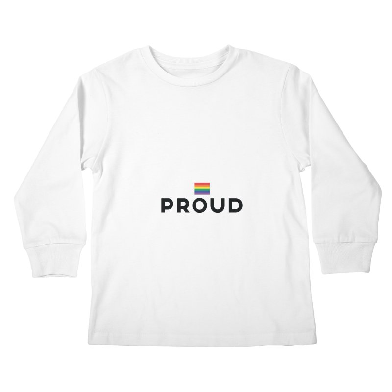 Simply Proud | Light Backgrounds Kids Longsleeve T-Shirt by march1studios's Artist Shop