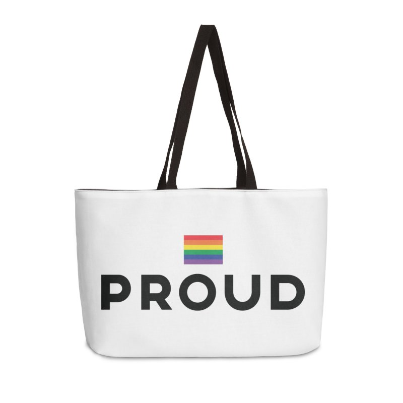 Simply Proud | Light Backgrounds Accessories Weekender Bag Bag by March1Studios on Threadless