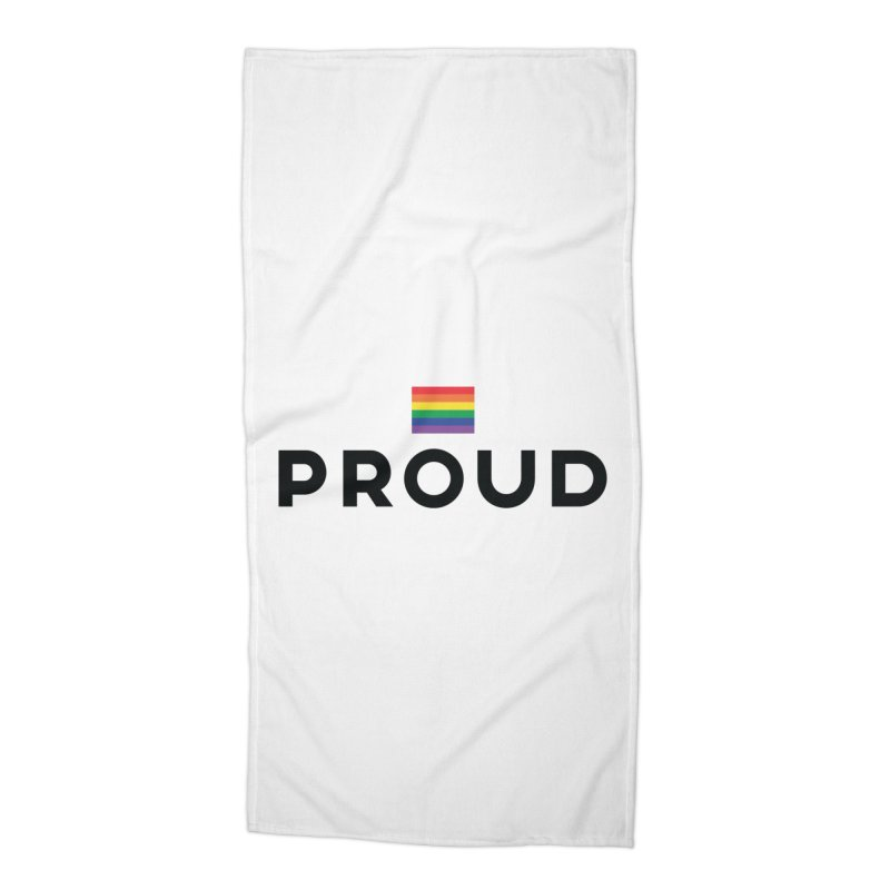 Simply Proud   Light Backgrounds Accessories Beach Towel by March1Studios on Threadless