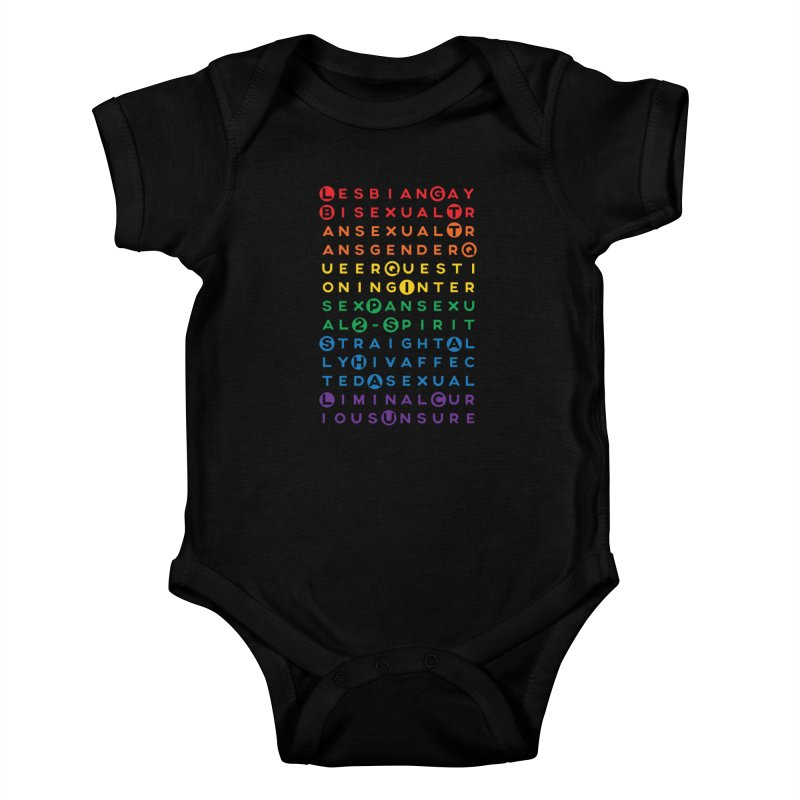 Gay Bee Cee's Kids Baby Bodysuit by March1Studios on Threadless