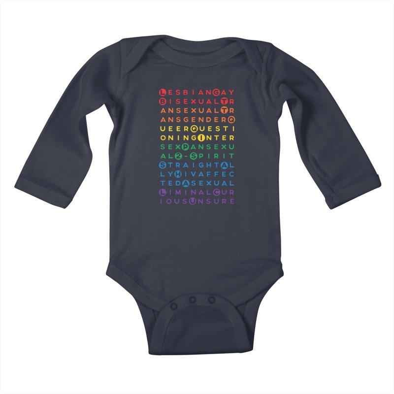 Gay Bee Cee's Kids Baby Longsleeve Bodysuit by march1studios's Artist Shop