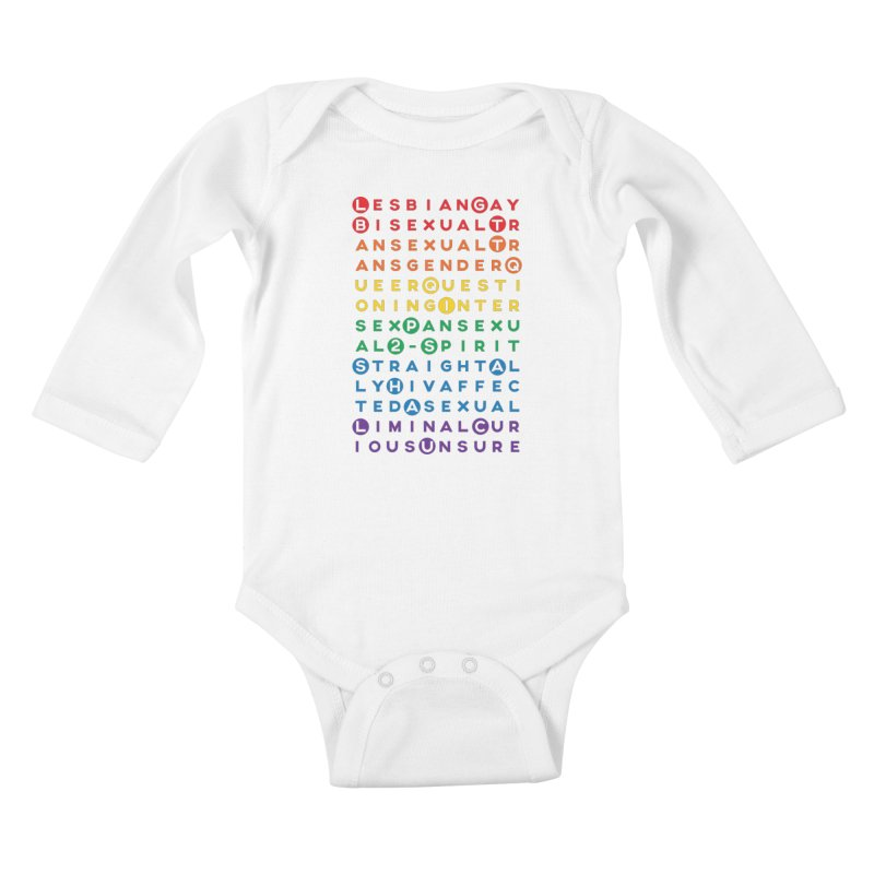 Gay Bee Cee's Kids Baby Longsleeve Bodysuit by march1studios's Artist Shop