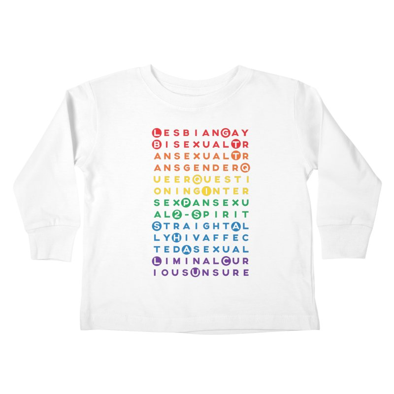 Gay Bee Cee's Kids Toddler Longsleeve T-Shirt by march1studios's Artist Shop